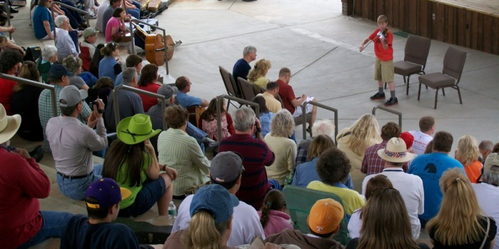 Crowd at Young Pickers Talent Contest, part of the Townsend Spring Festival. – Townsend Visitors Center