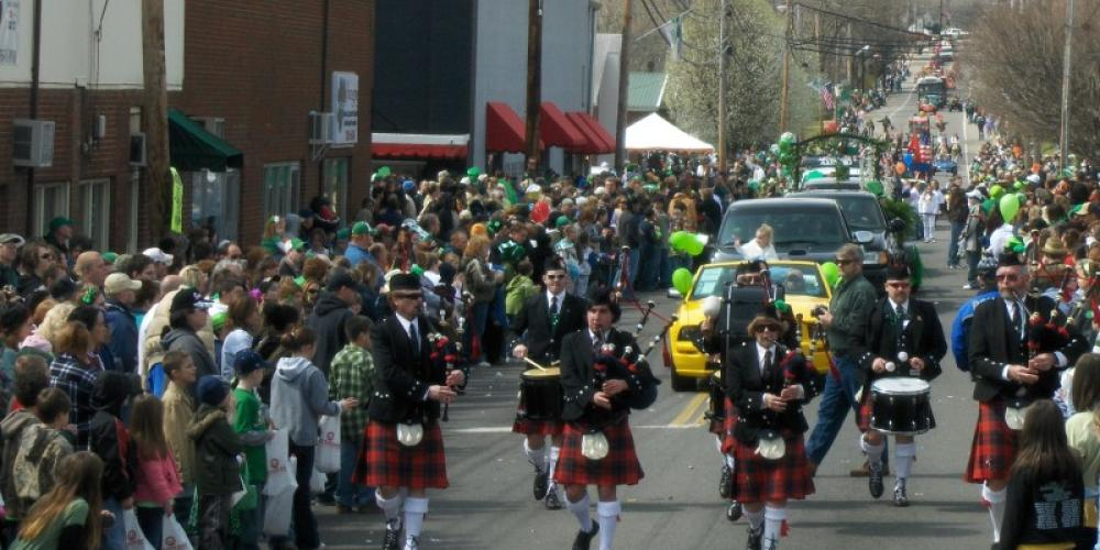 Bagpipers and drummers love Irish Day. – Angie Neilson