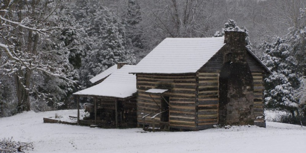 John Sevier Cabin in Snow – Carson Dailey