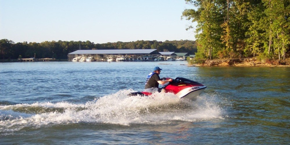 Water sports are a main attraction at Harrison Bay State Park – State Photo