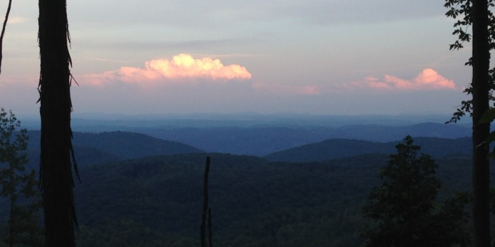 Twilight view of the Cumberland Mountains