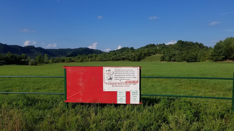Wildlife viewing meadow at Southern Gap in Buchanan County, Virginia