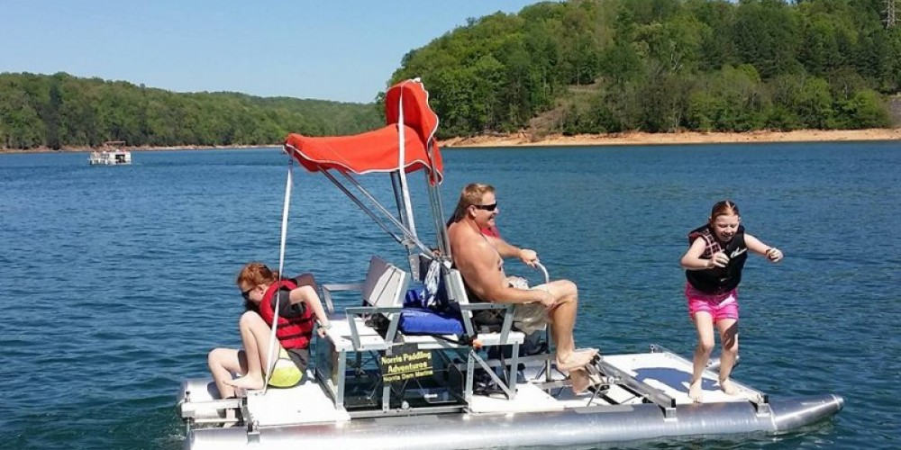 Family Fun on a Pontoon Peddle-boat – John Marquis