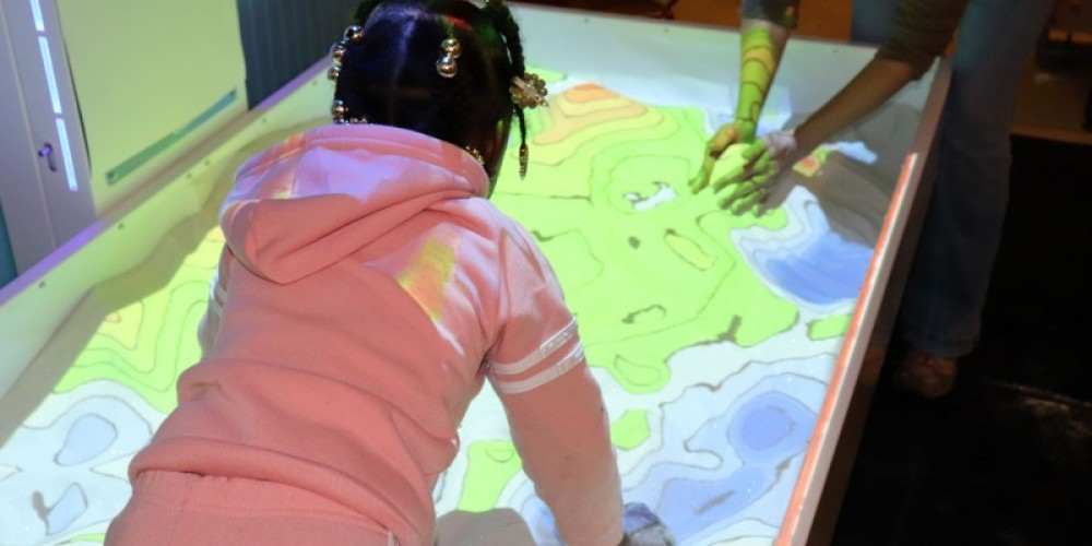 Create worlds and learn about your own with our AR Sandbox, only in STEM Station.