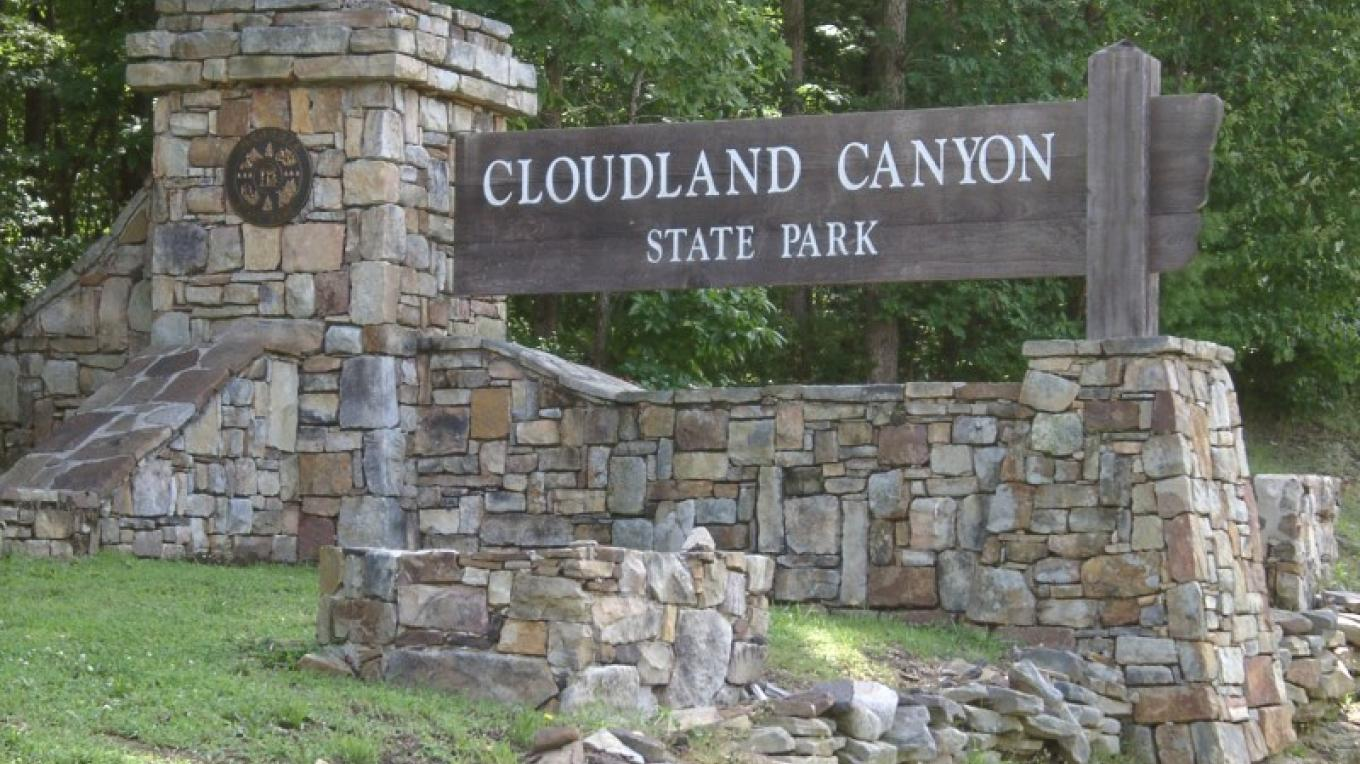 Entrance to Cloudland Canyon State Park, Rising Fawn, GA – Georgia State Parks - GA Dept. of Natural Resources
