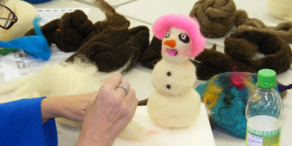 We have year-round classes in all kinds of crafts.