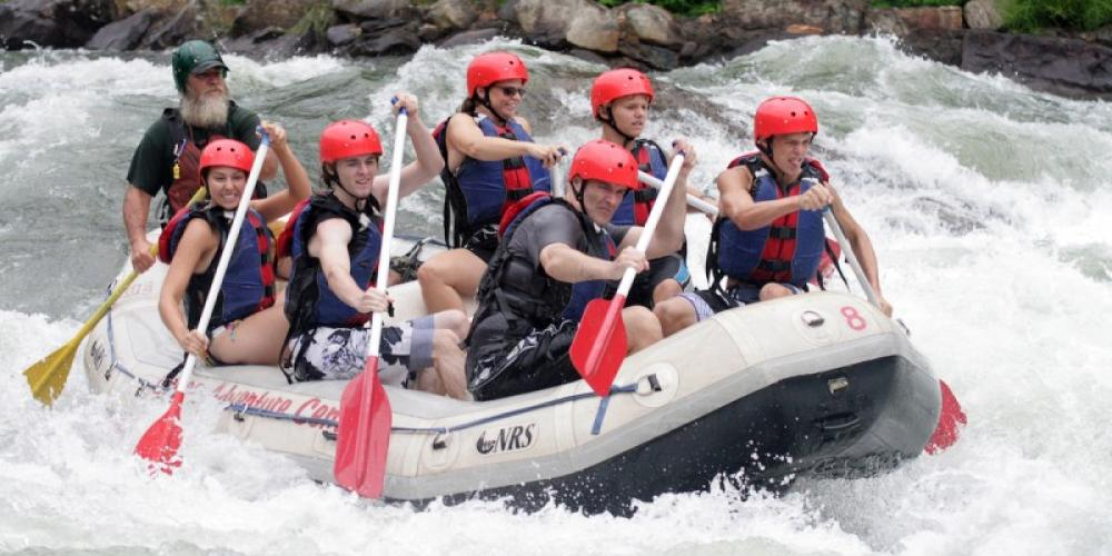 Whitewater rafting on the Ocoee River in Tennessee – James Becker