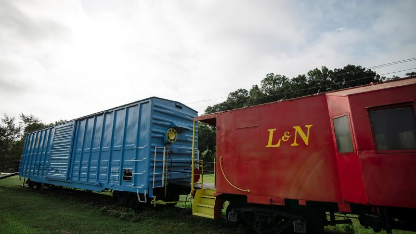 A Boxcar and Caboose have been restored and are on display. – Cari Griffith