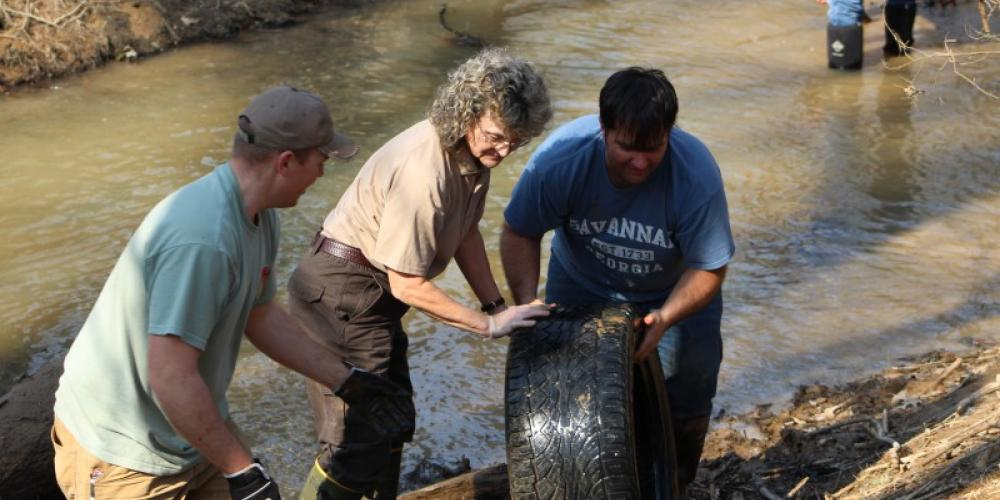 Many tires are removed from out waterways every year. – sHayden/USFWS