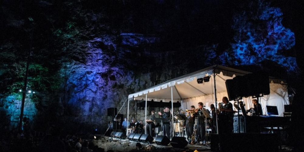 A concert is held in the South's most unique outdoor venue--Three Caves located on the Land Trust's Monte Sano Nature Preserve. – Jeff White