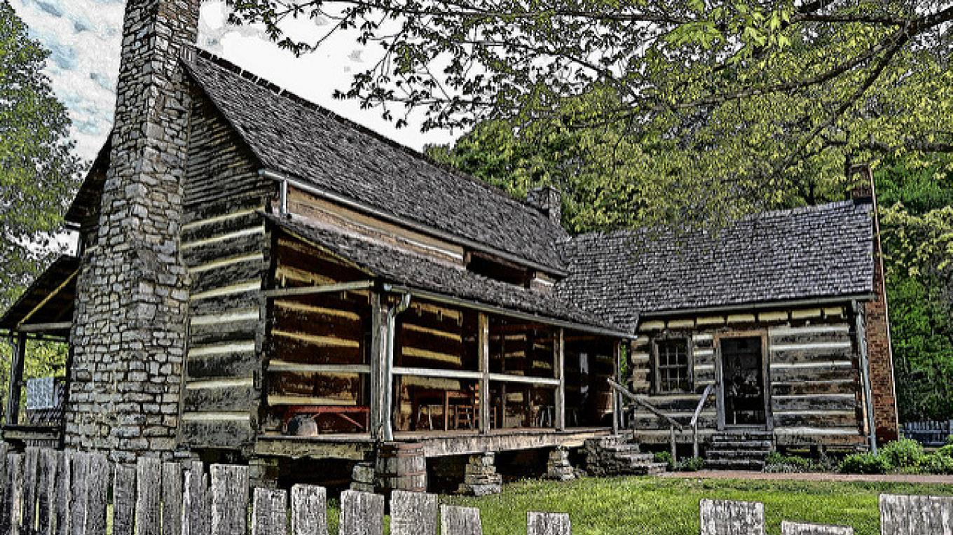The double pen house is a great place to begin your time at the Homeplace 1850s at Land Between the Lakes. – Land Between the Lakes staff