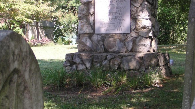 Revolutionary War Site Marker commerating early town settlers. – Main Street Dandridge