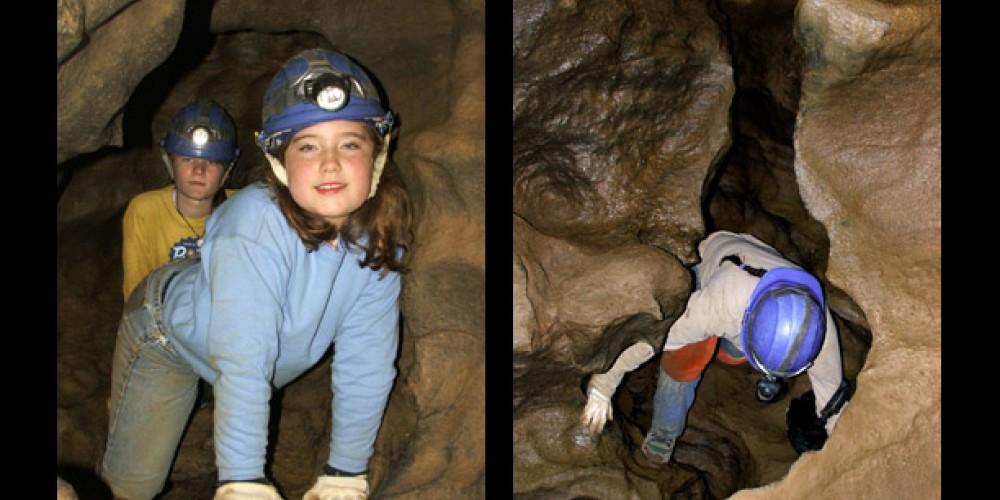 Cavern crawl – Raccoon mtn Caverns