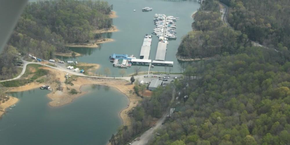 Aerial view of Beach Island Resort and Marina