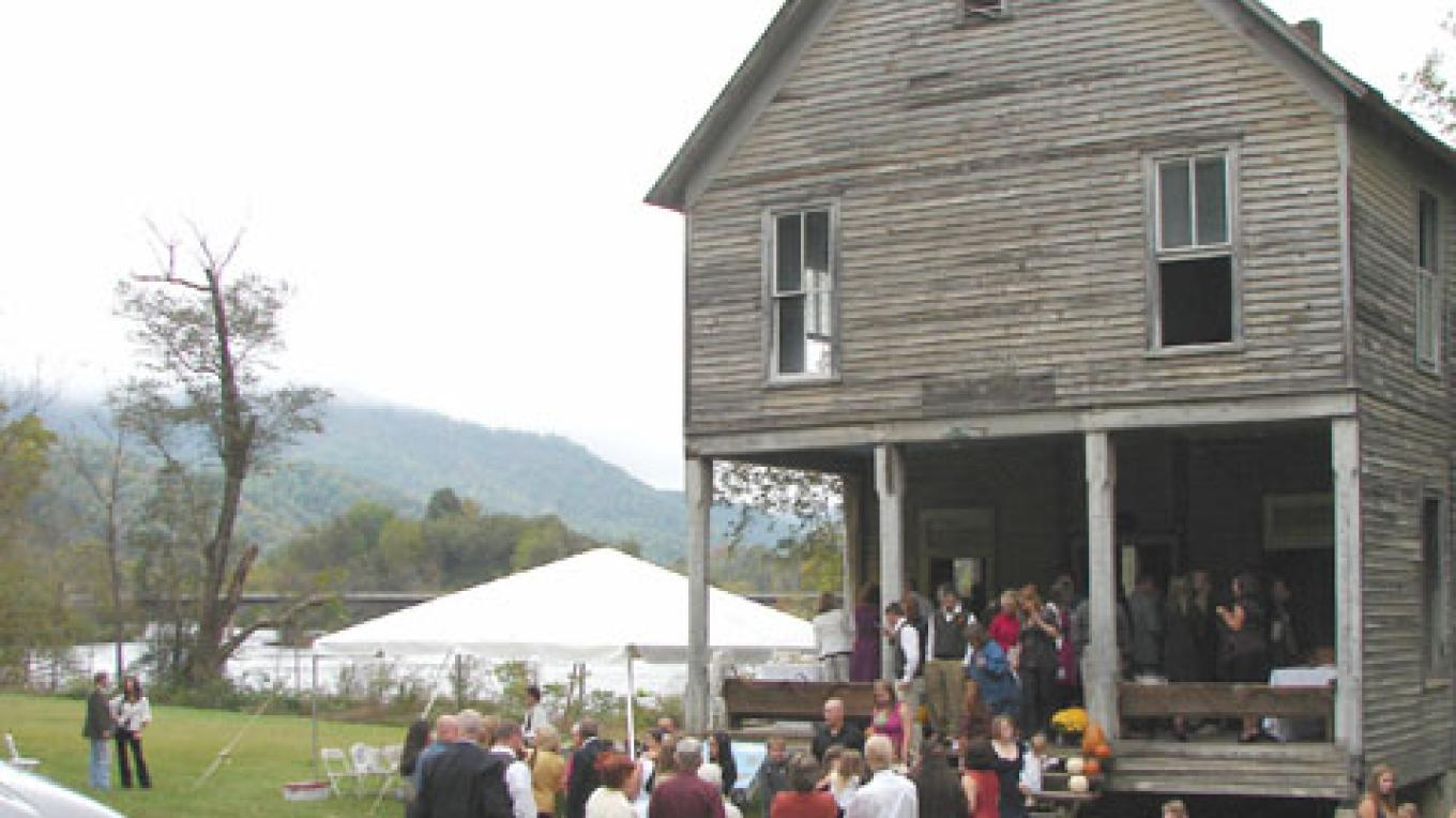 The rustic 1899 Hiwassee Union Church is available for weddings and special events. – Ingrid Buehler