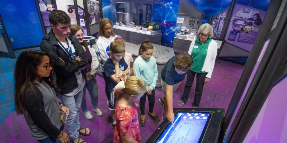 Interactive exhibits at the museum allow visitors to have a hands-on experience.