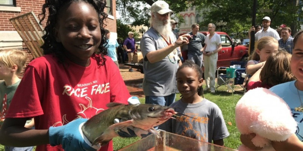 """The annual """"Catfish Races"""" are held on the courthouse lawn every year during the World's Biggest Fish Fry. – Susan Jones"""