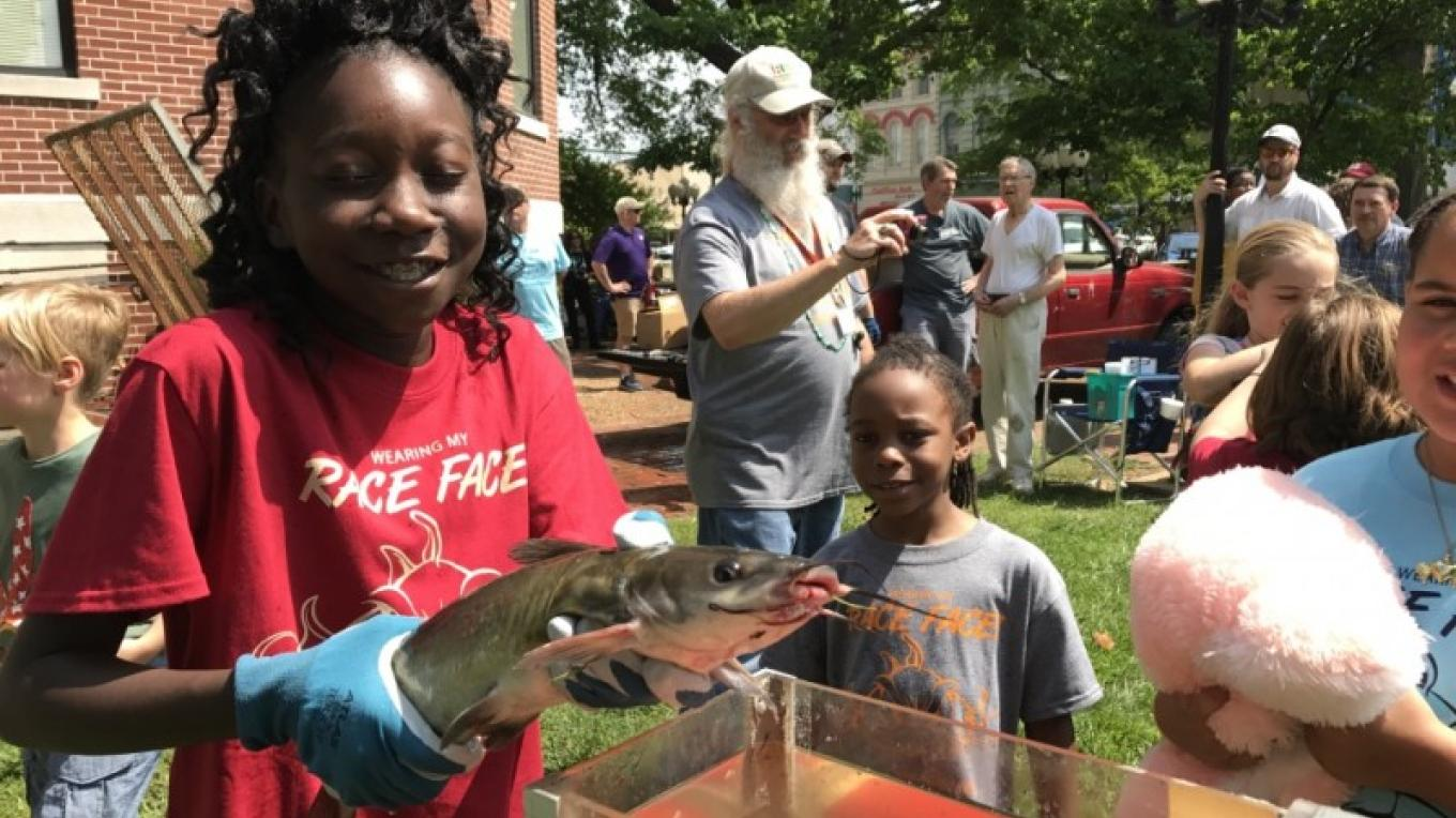"The annual ""Catfish Races"" are held on the courthouse lawn every year during the World's Biggest Fish Fry. – Susan Jones"