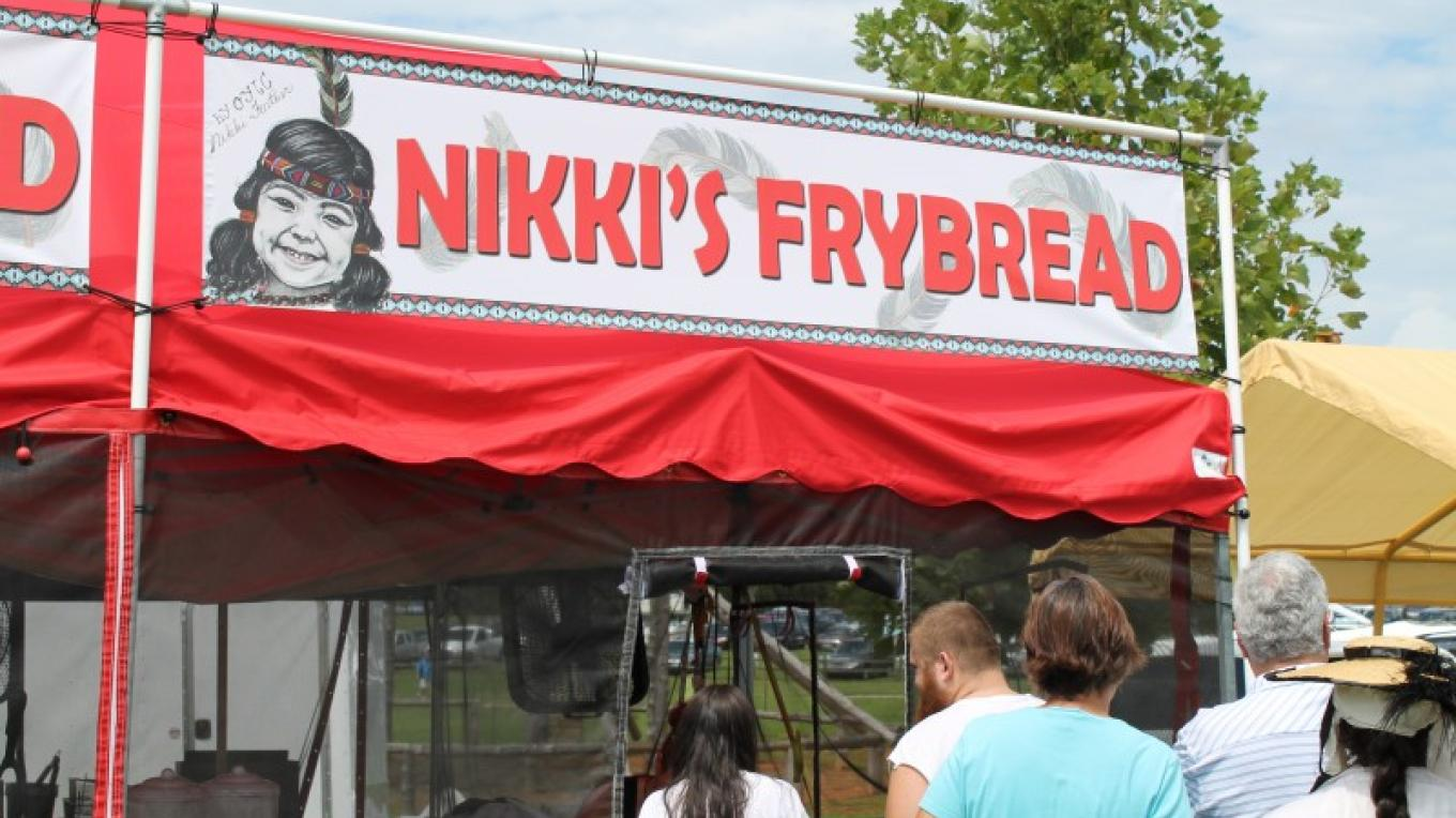 Nikki's Fry Bread & Indian Tacos.  Delicious! – sbm