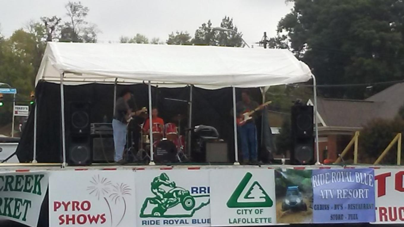 Musical entertainment at our Big Creek Fall ATV Festival