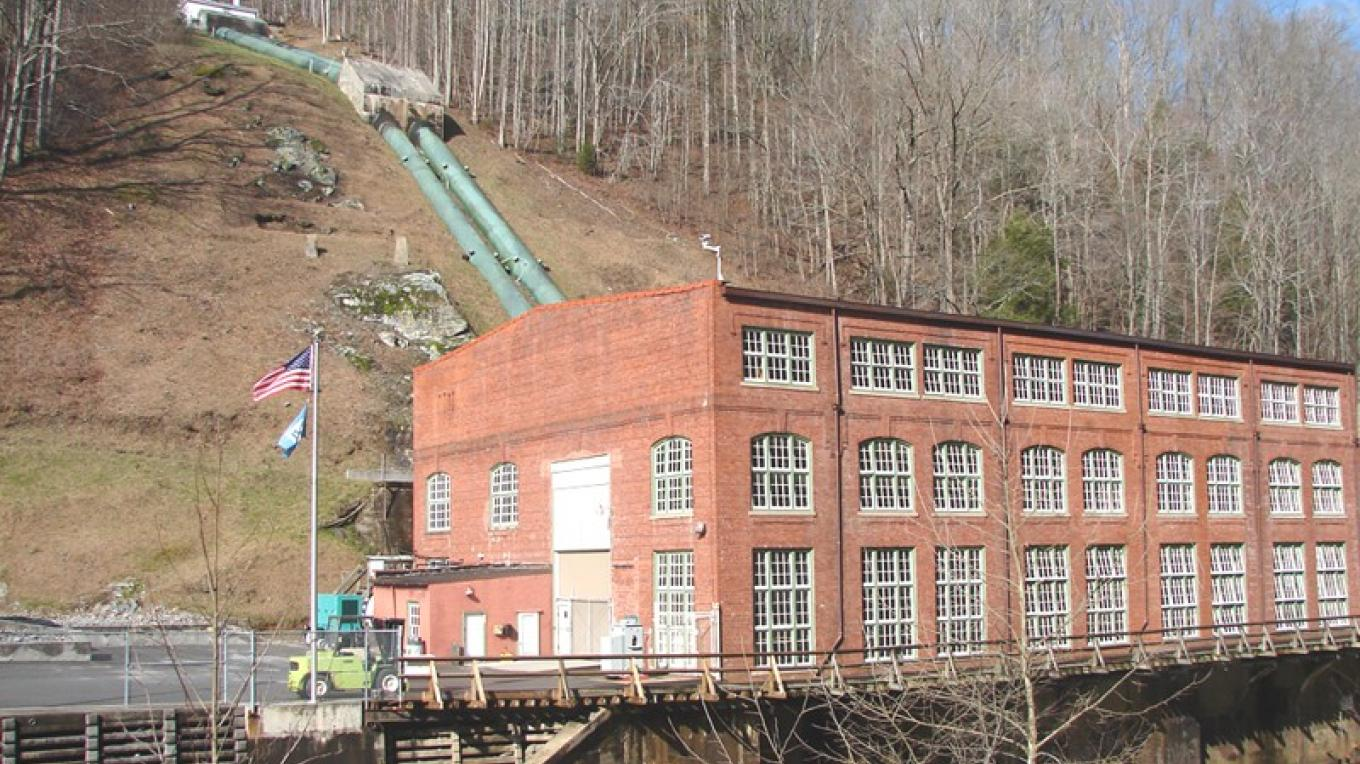 Ocoee No. 2 Powerhouse uses water from the flume line to generate electricity. – Ingrid Buehler
