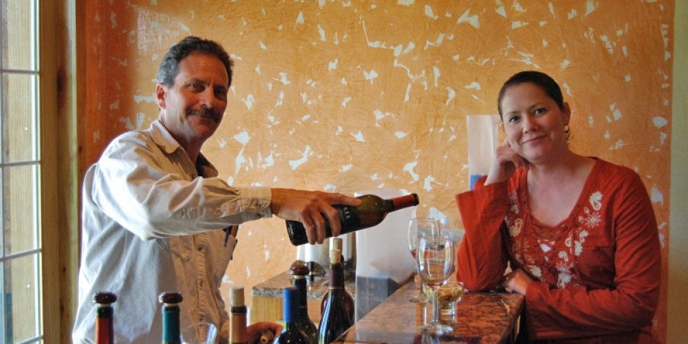 Owners Ruggero and Lisa Ciarrocchi opened Paris Winery in April 2008. – Susan Jones