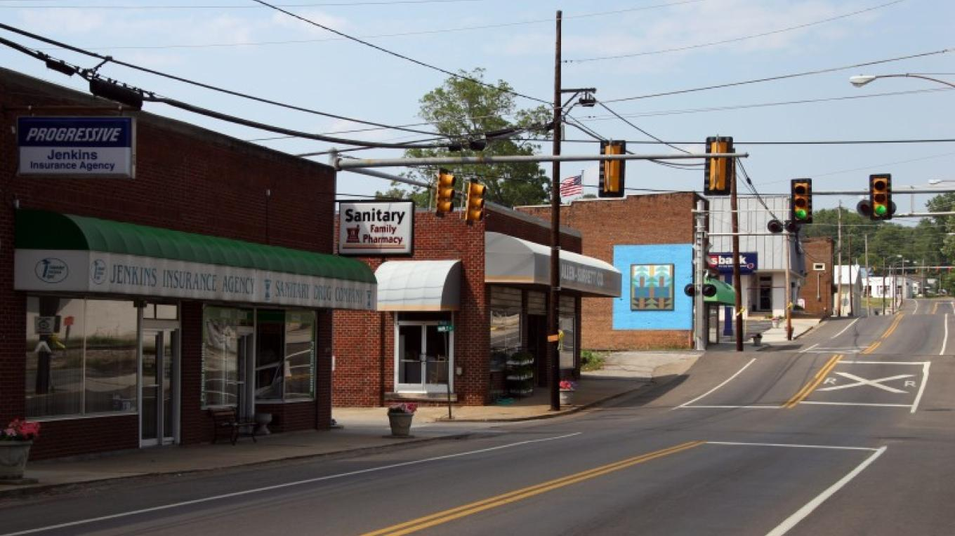 Another view of Downtown White Pine. Founded in 1915.