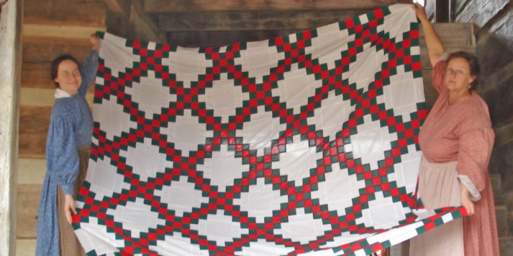 Historic quilts take center stage at the Homeplace 1850s Working Farm and Museum during the Spring Quilting Bee.