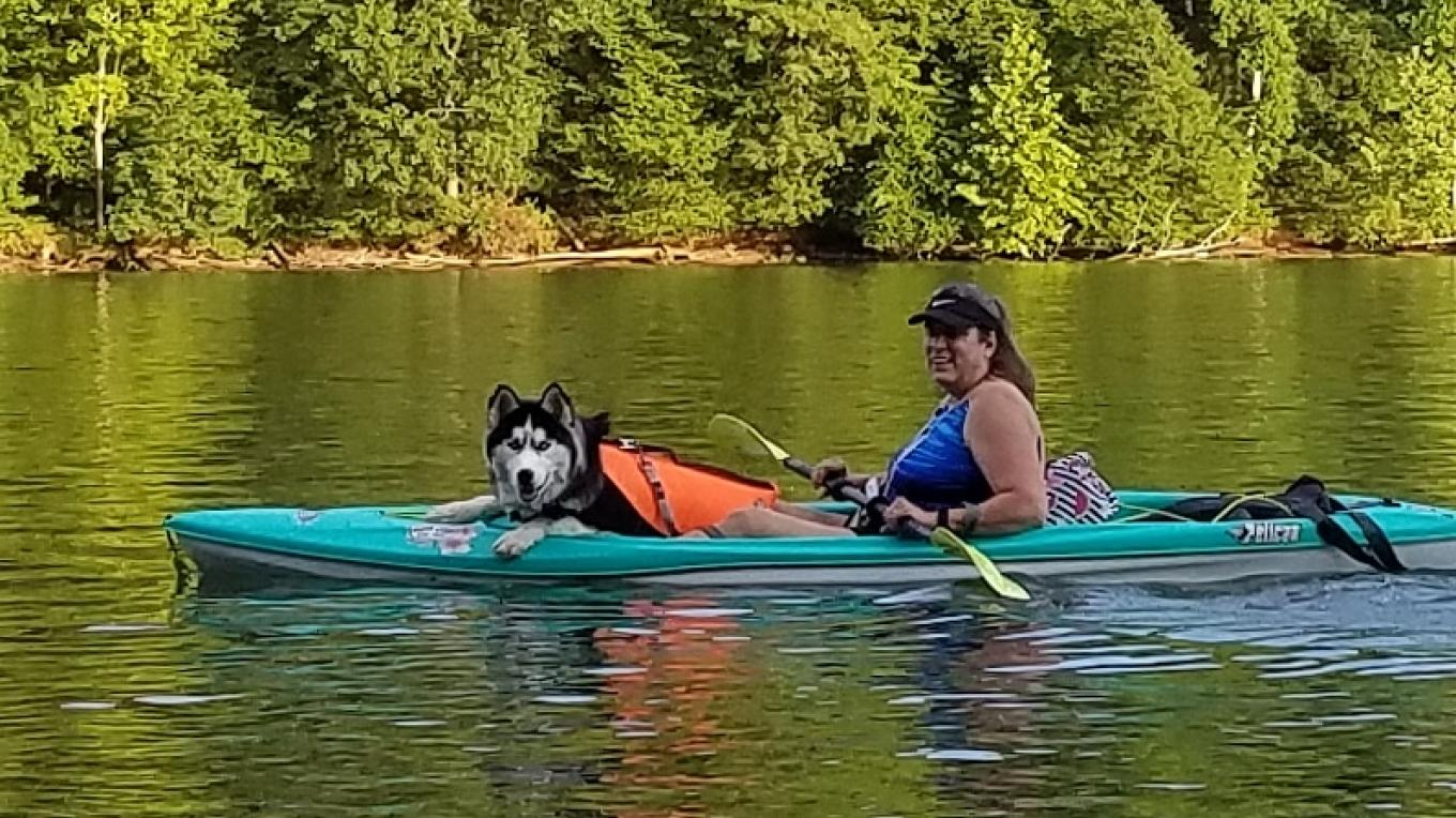 Paddling with a companion doesn't have to interfere with your sense of solitude.