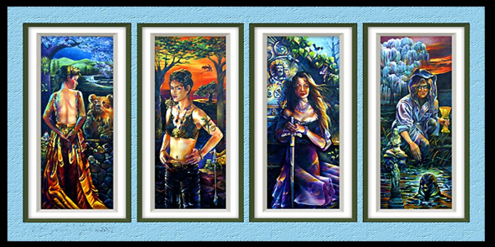 New Age and metaphysical paintings and prints by fine artist Kathryn Rutherford