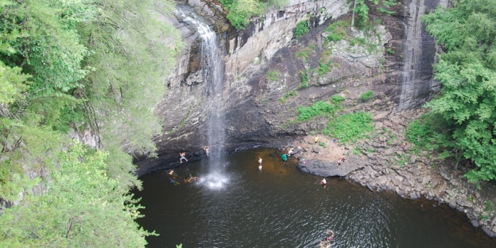 A swim is well earned after a day at Foster Falls – Randy Hedgepath