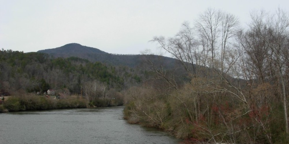 Hiwassee River and mountain view – P Chambers