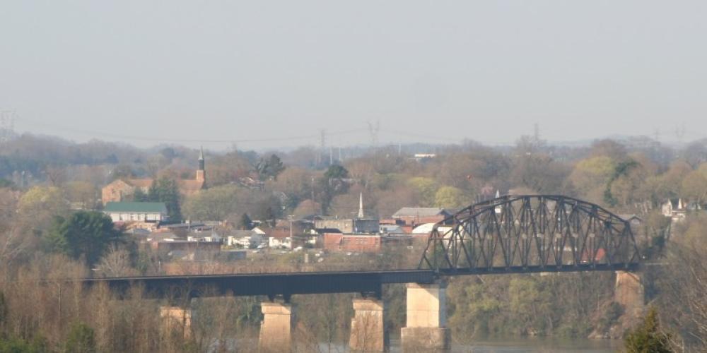 View From Civil War Overlook To Site of Loudon Civil War Bridge – Molly Gilbert