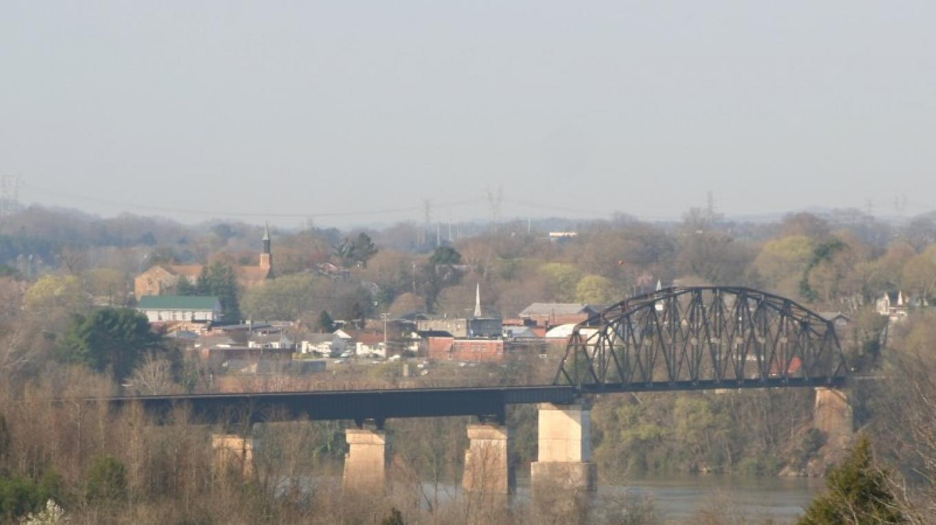 View From Civil War Overlook To Site of Loudon Civil War Bridge – Molly Gilbert