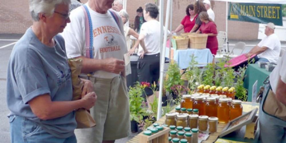 Fresh produce, local honey, eggs, and home-baked goods. – Tina Murrow