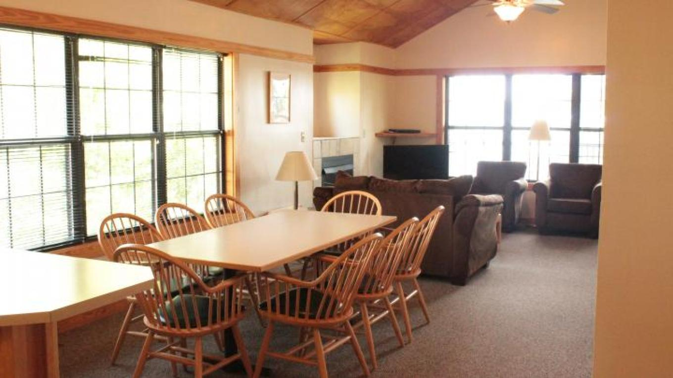 Our cabins offer plenty of room for everyone.