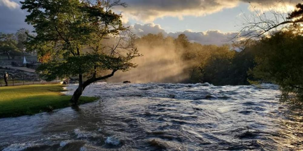 Sunrise at the falls. – Kay Moore, Gadsden