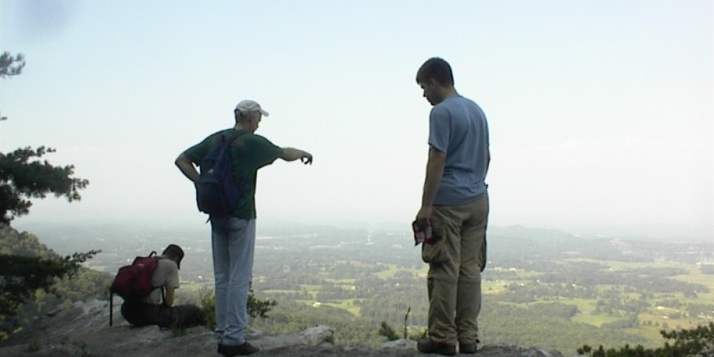 Hikers enjoy the Overlook from House Mountain State Natural Area in East Knox County – Lisa Huff