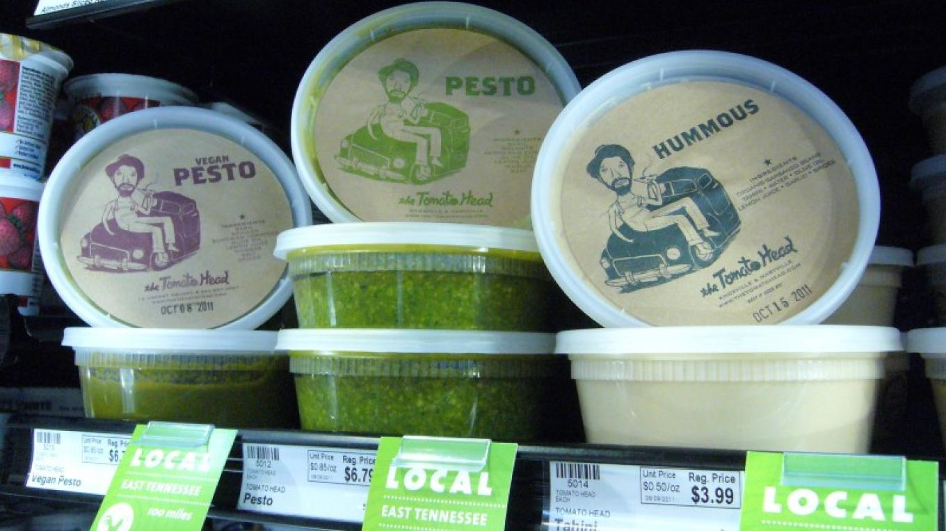 Vegan Pesto, Pesto, and Hummus from the Tomato Head available at Three Rivers Market. – Three Rivers Market