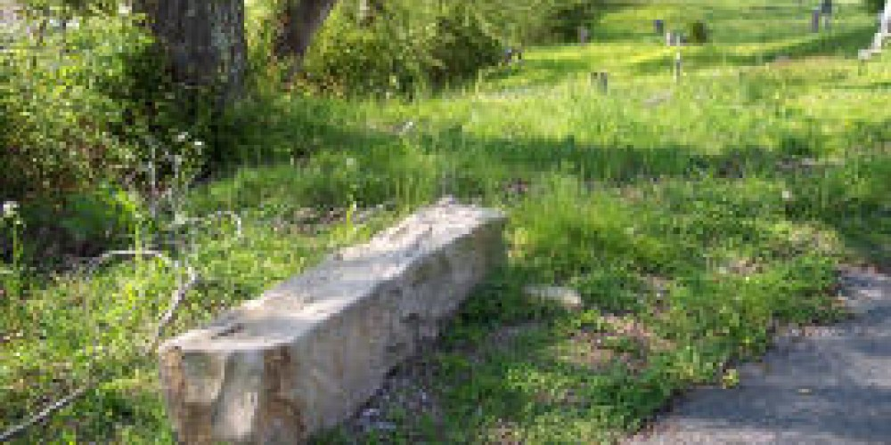 Stepping stone used for church members to climb on to their horse, buggy, or mule – Coal Creek Watershed Foundation, Inc.