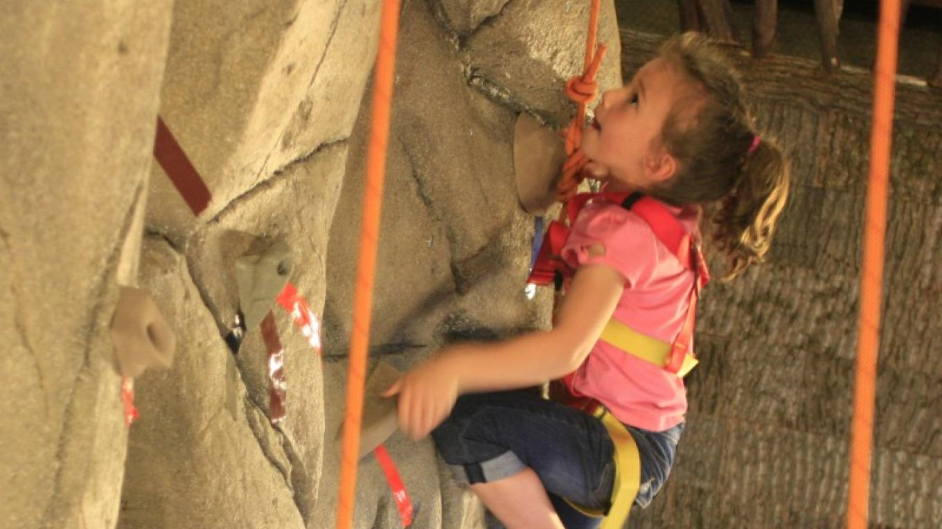 Climb the 30 foot indoor climbing wall! – Pat McDonnell