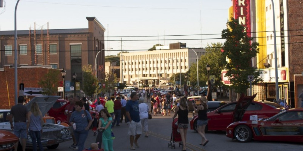 Festivalgoers take to the streets for music, shopping, antique cars and other free family fun during Downtown Decatur's 3rd Friday. – Brad Wiegmann
