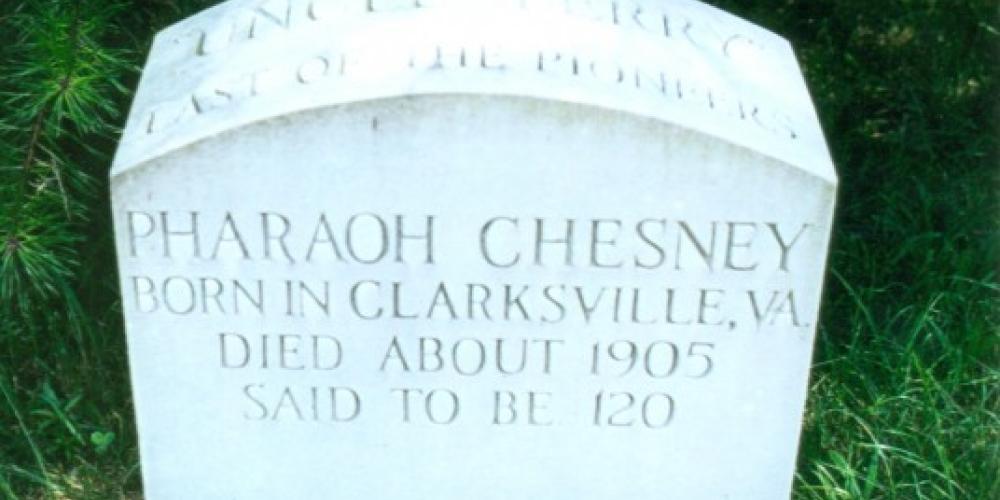 Grave of Pharoah Chesney – Graves