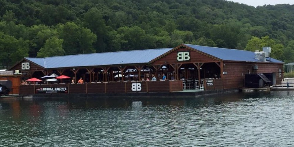 Water view of Bubba Brew's