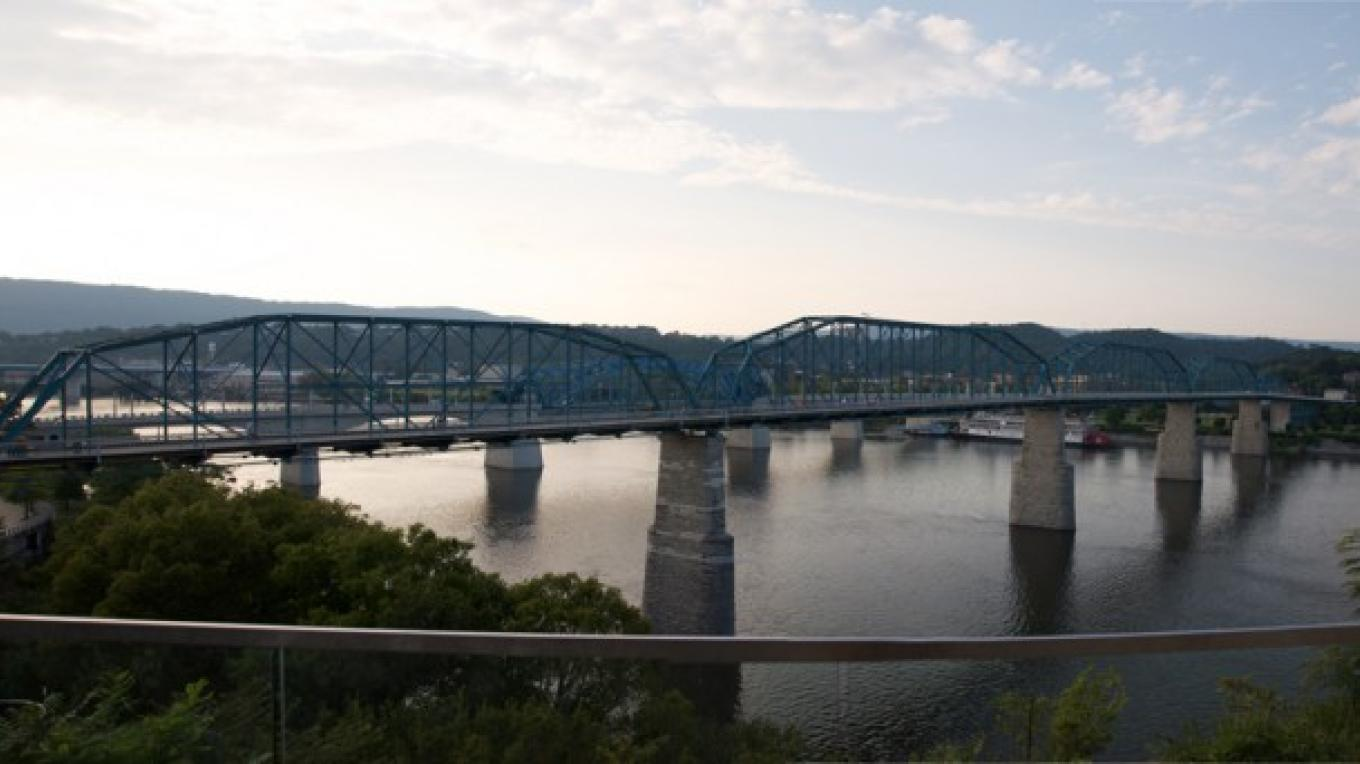 A panoramic view of the historic Walnut Street Bridge in Chattanooga, Tenn. – Courtesy The Parks Foundation