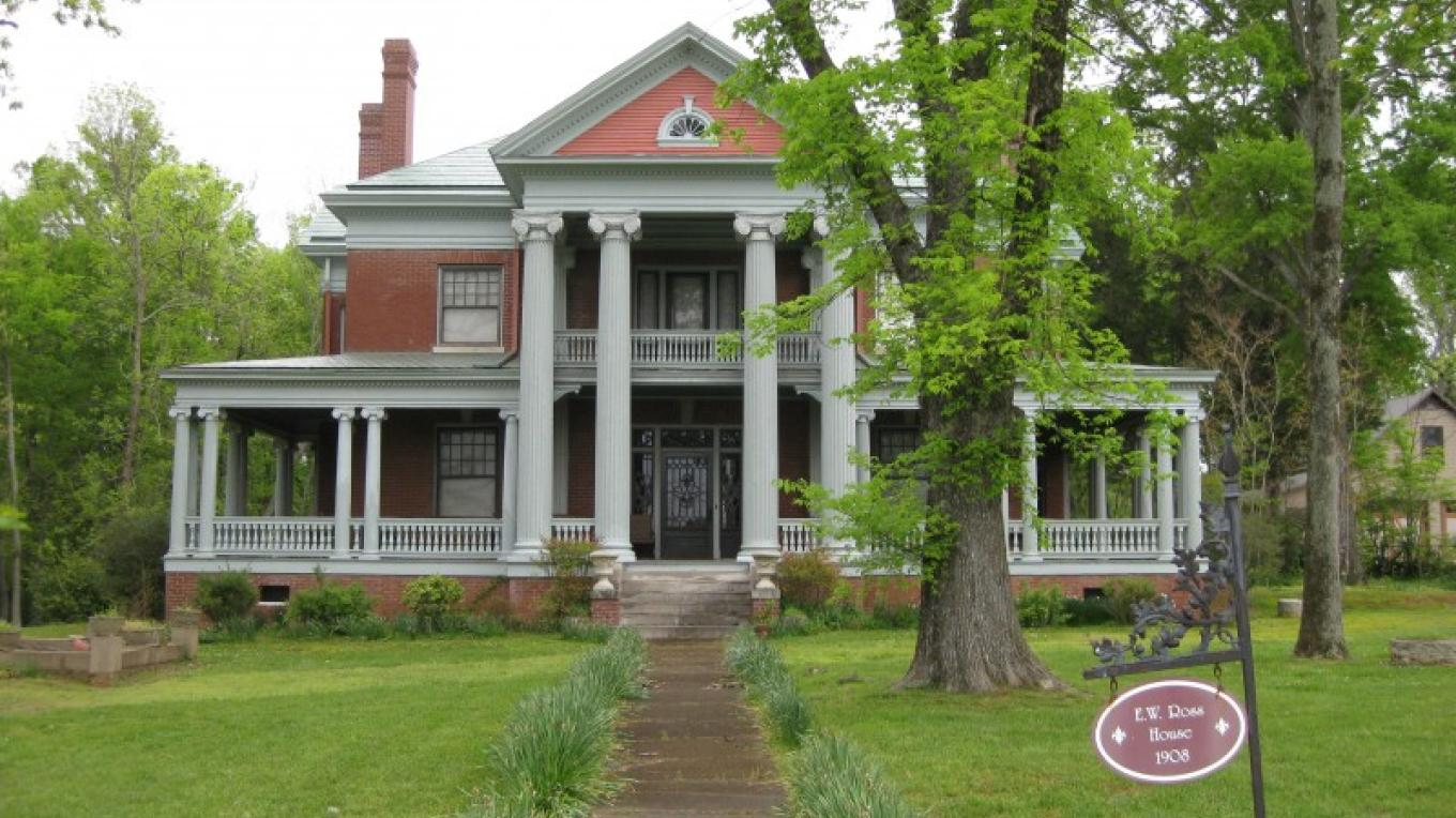 The Ross House at 520 Main Street was built in 1908.  It is a classical revival stye home and is unaltered. – Richard Hines