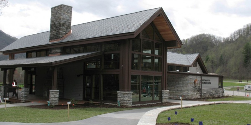 The new Oconaluftee Visitor Center opened April, 2011. – NPS