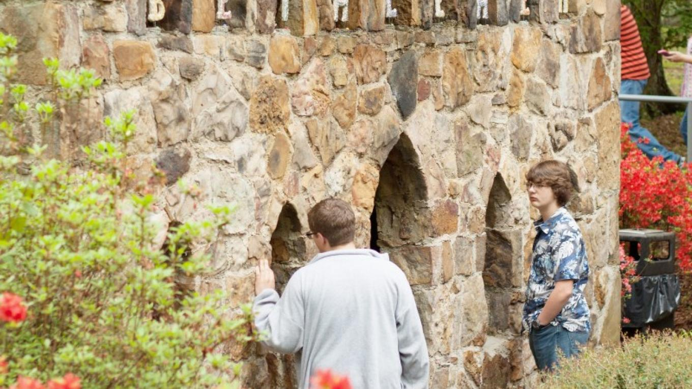 St. Bernard Abbey and Prep School is located adjacent to the world famous Ave Maria Grotto, a 4-acre park featuring 125 miniature replicas of biblical structures and world-famous buildings, hand built by a Benedictine monk. – Jackie Metcalf