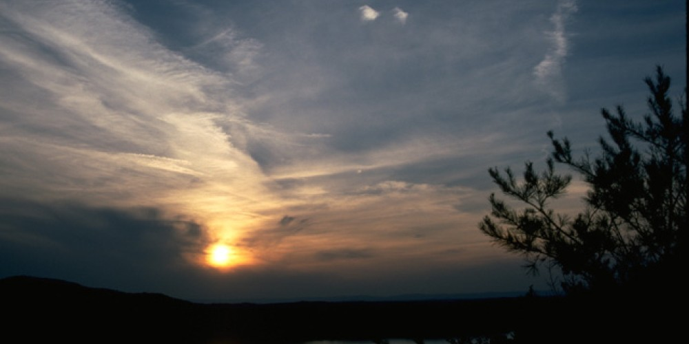 Carters Lake at sunset