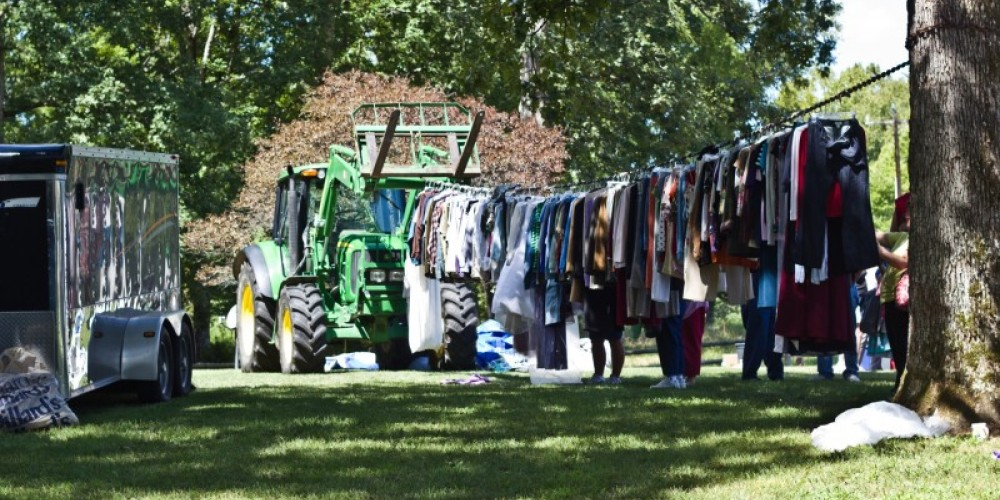 One of the yard sales along a country road – Joyce Davis